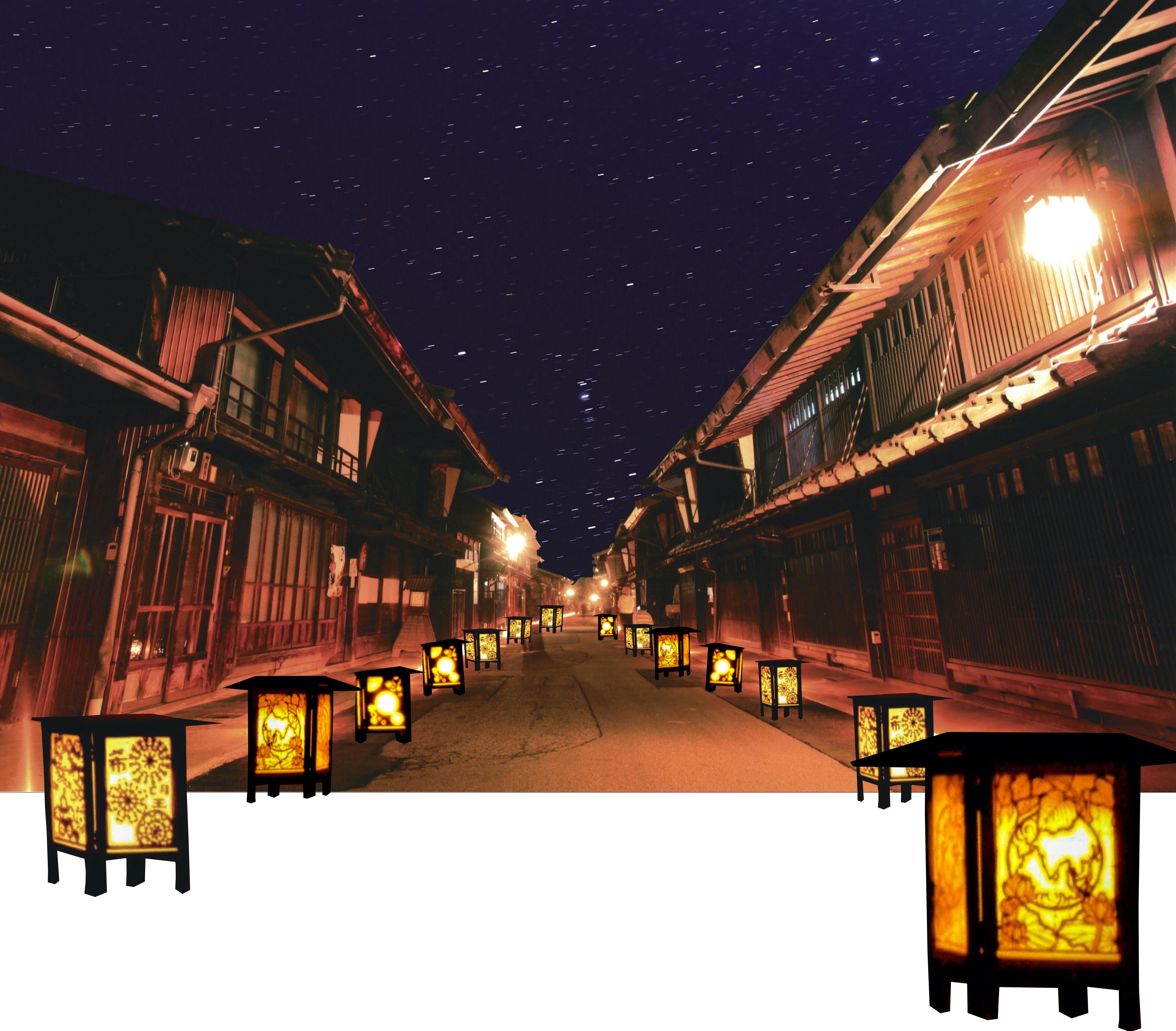 長野灯明まつり in 奈良井宿