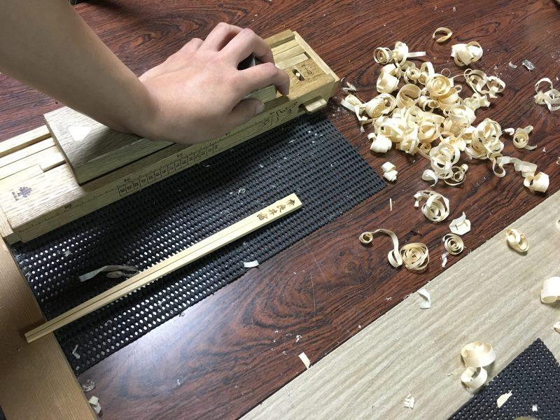 ひのき箸作り