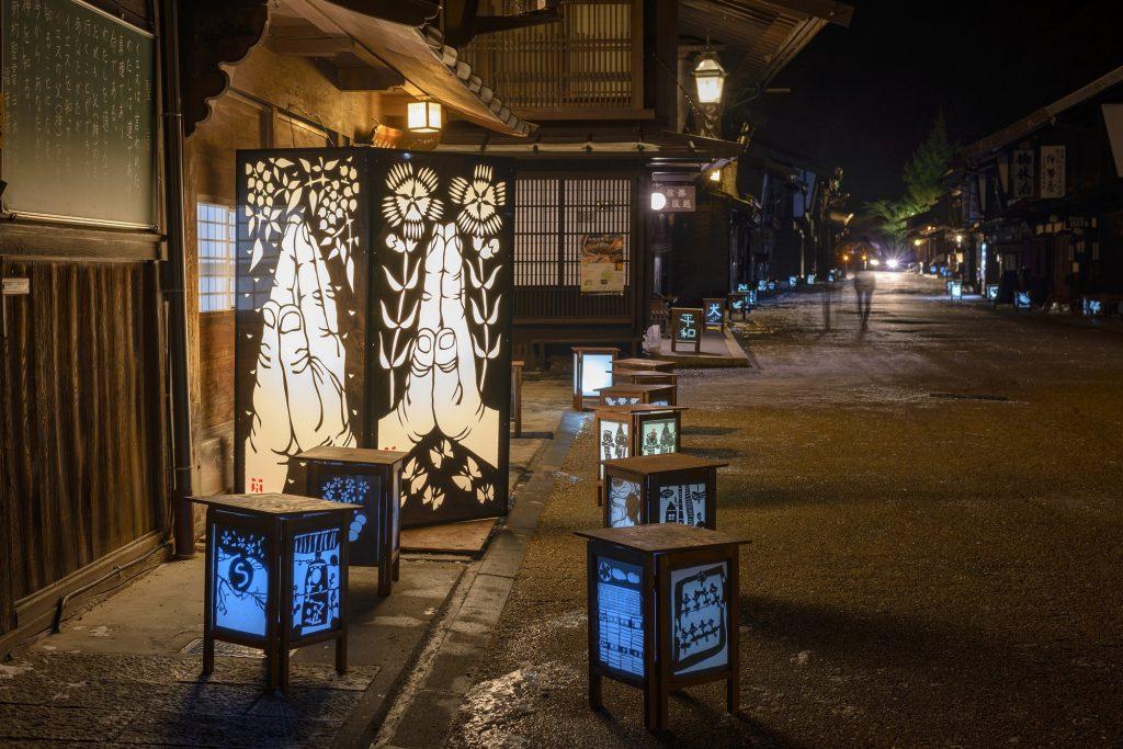 第1回 奈良井宿灯明まつり