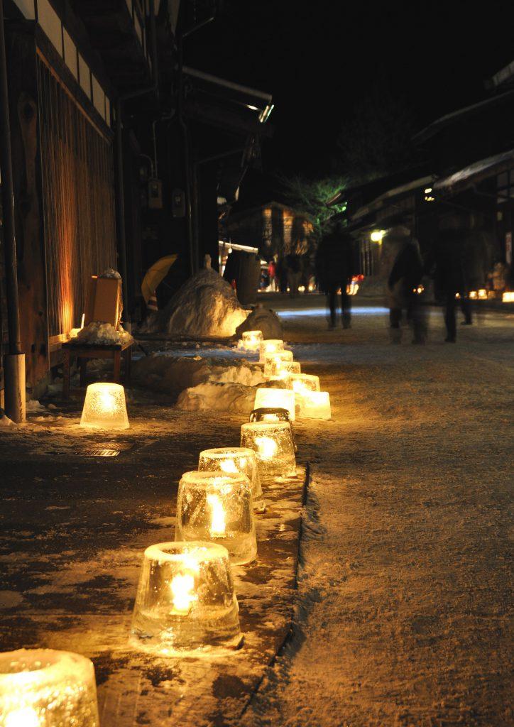 第22回 奈良井宿アイスキャンドル祭り