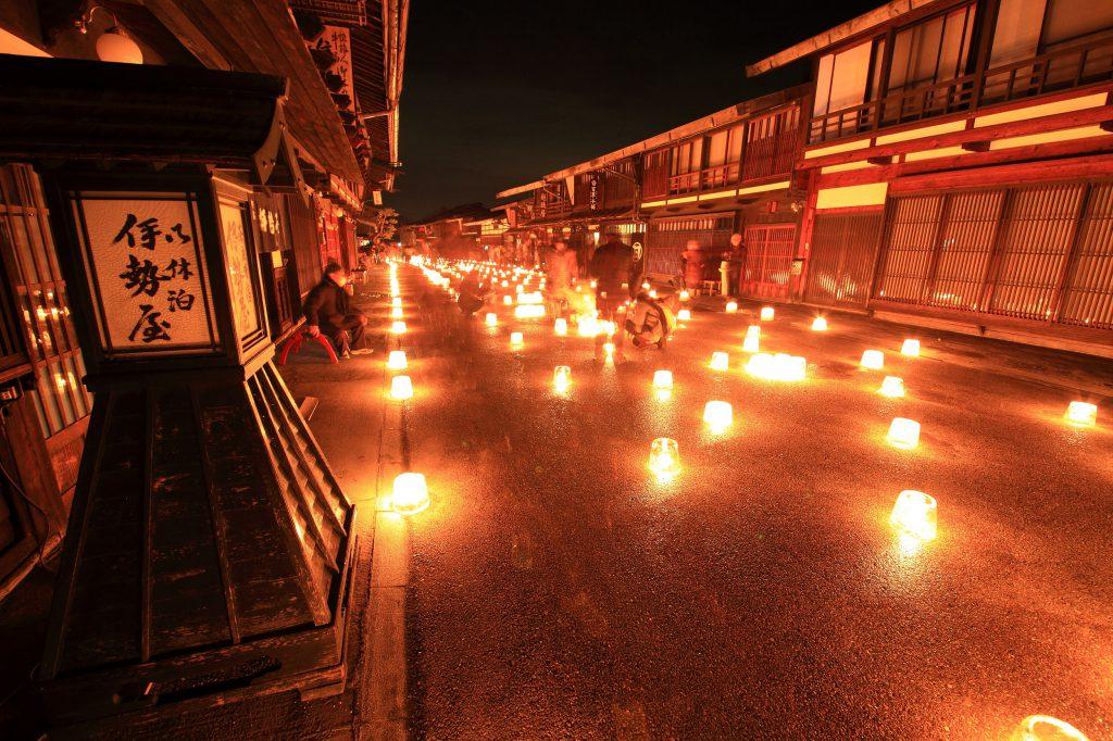 第21回 奈良井宿アイスキャンドル祭り